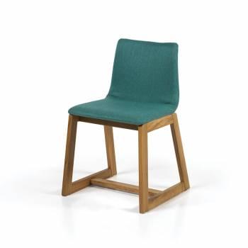Lot de 2 chaises en hêtre et tissu