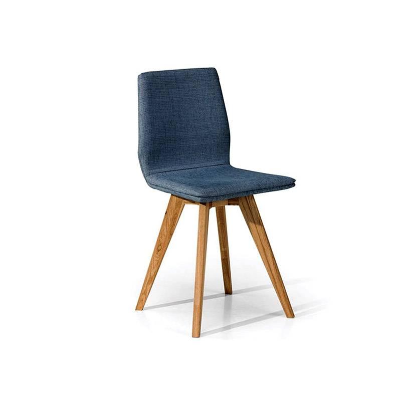 2 chaises scandinave en chêne huilé et tissu
