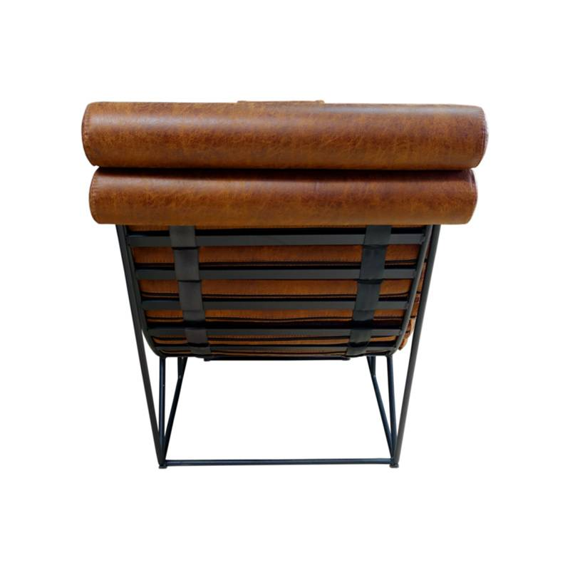 Chaise longue d'inspirration industrielle et vintage