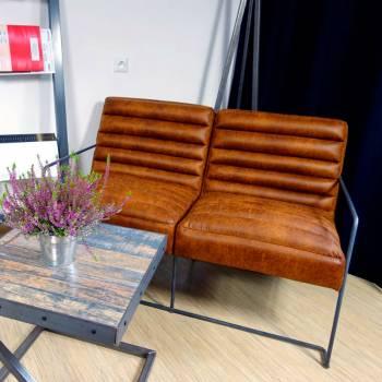 Canapé 2 places en cuir de...