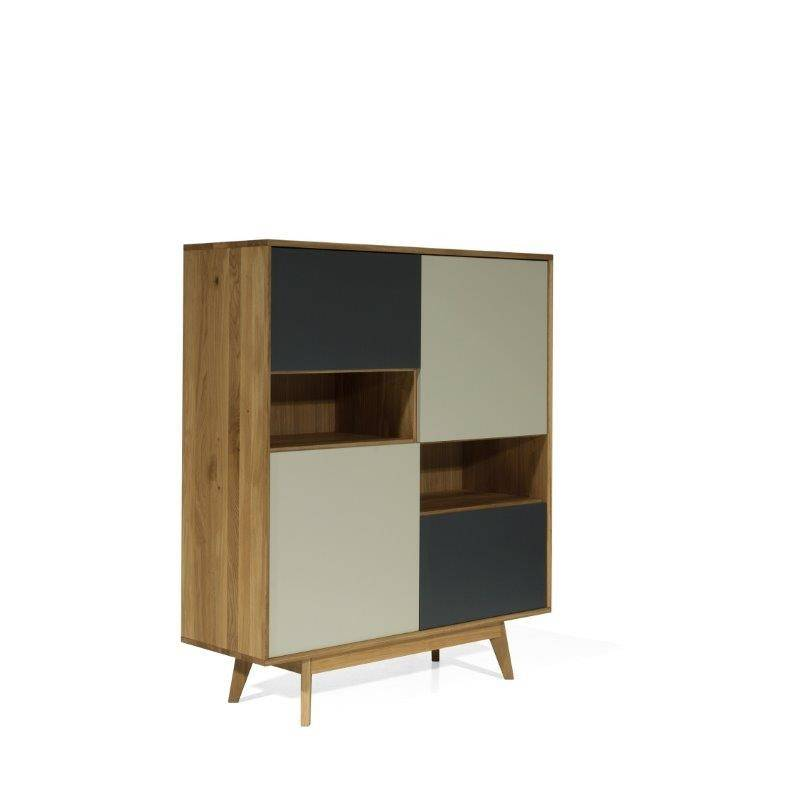 Buffet haut scandinave  4 portes et 2 niches