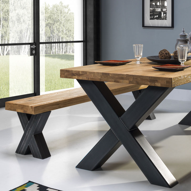 Table bois et acier