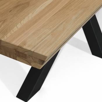 Table chêne massif pieds en étoile