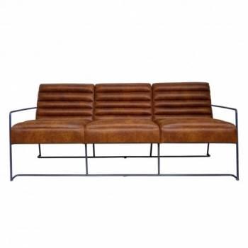 canapé 3 places, de style industriel et vintaga