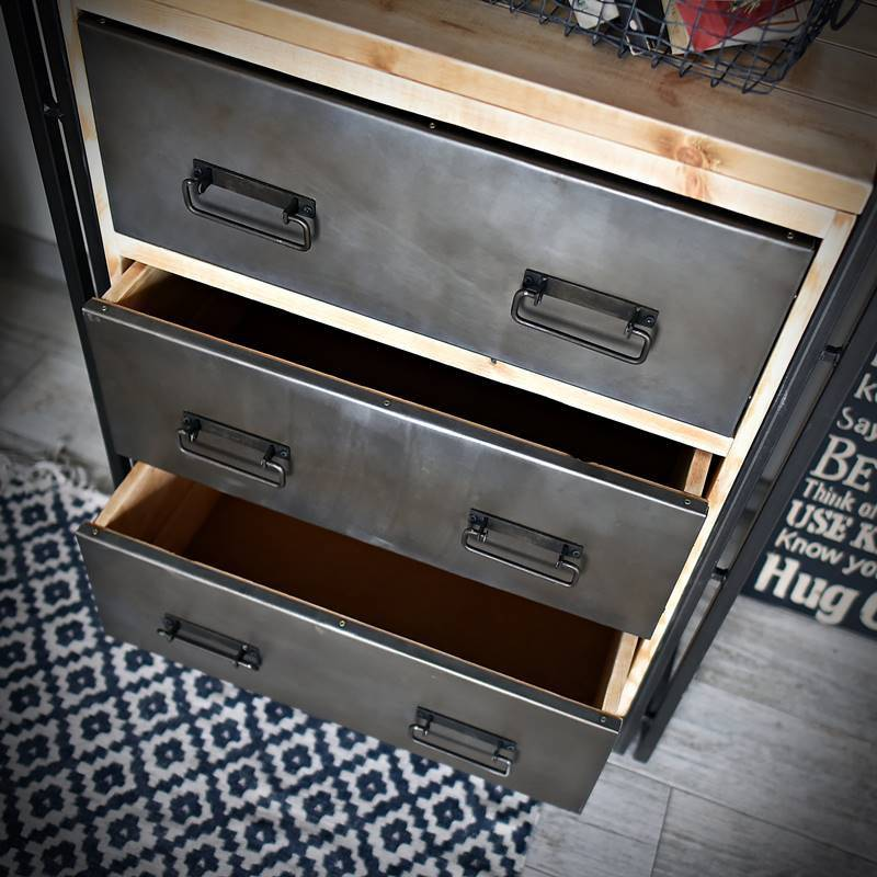 Etagère STEEL WOOD 80