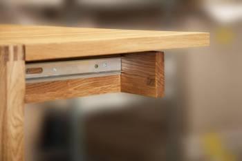 Table extensible en chêne massif NATURAL