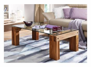 Table basse en verre et bois ARKS
