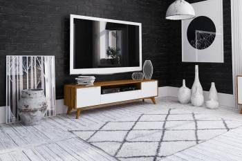 Meuble TV de style scandinave BIANCO