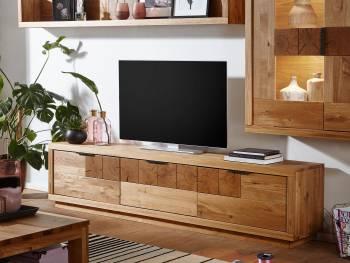 Meuble TV en chêne massif CATALEA