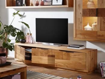 Meuble TV en chêne massif...
