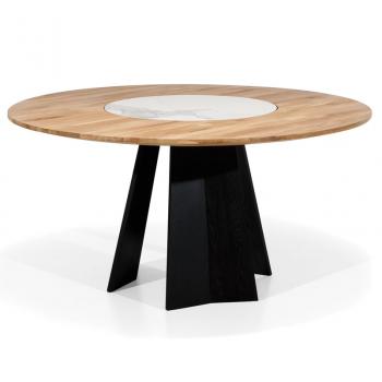 Table ronde en chêne massif ORIO