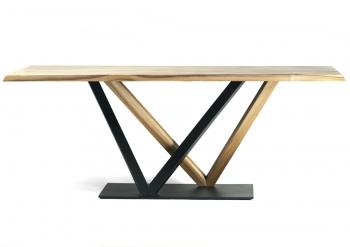 Table design en noyer européen massif VERSUS