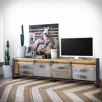 Grand meuble TV industriel...