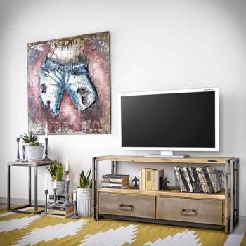 Meuble TV STEEL WOOD 120